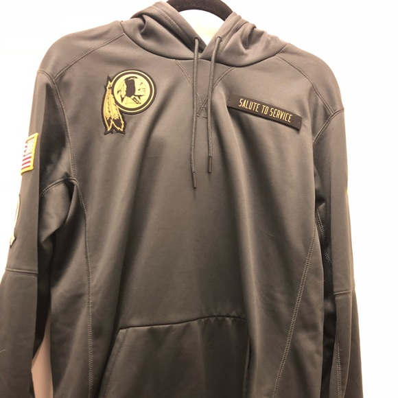 new product b8c27 6a90b nike redskins salute to service hooded sweatshirt